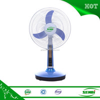 super solar cooling lighting system fans with CE approval 16'' AC DC table fan