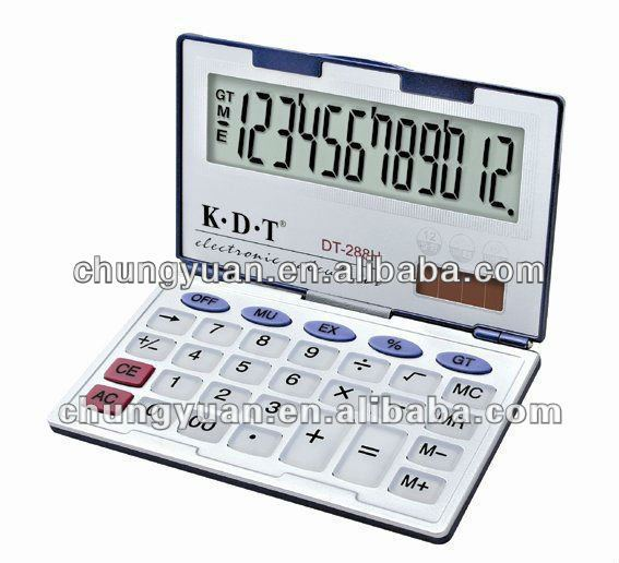 dual power small foldable calculator DT-288H