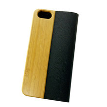 Dongguan Factory Wholesale Clear Handmade Leather Wooden Phone Cases for I Phone 6 Case