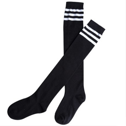 High school girl white socks knee high girl white knee socks, sports compression stocking