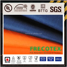 wholesale china manufacturer EN1149 cvc cotton/poly woven twill flame and fire resistant antistatic fabric for safety clothing