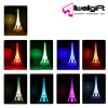 Wholesale Creative Gift Paris Souvenir Acrylic Effie Tower LED Light for Promotion Gift Home decoration