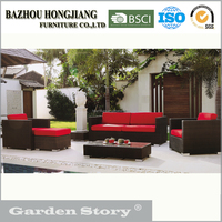 outdoor&indoor rattan garden furniture with modern cheap sofa set