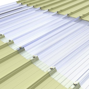 Multiwall polycarbonate corrugated sheet for roofing and skylight, 100% water proofed