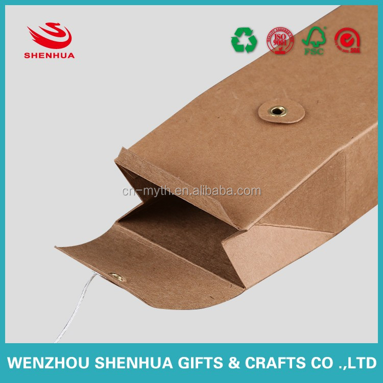 strong and high quality brown kraft paper box with window for tea and food