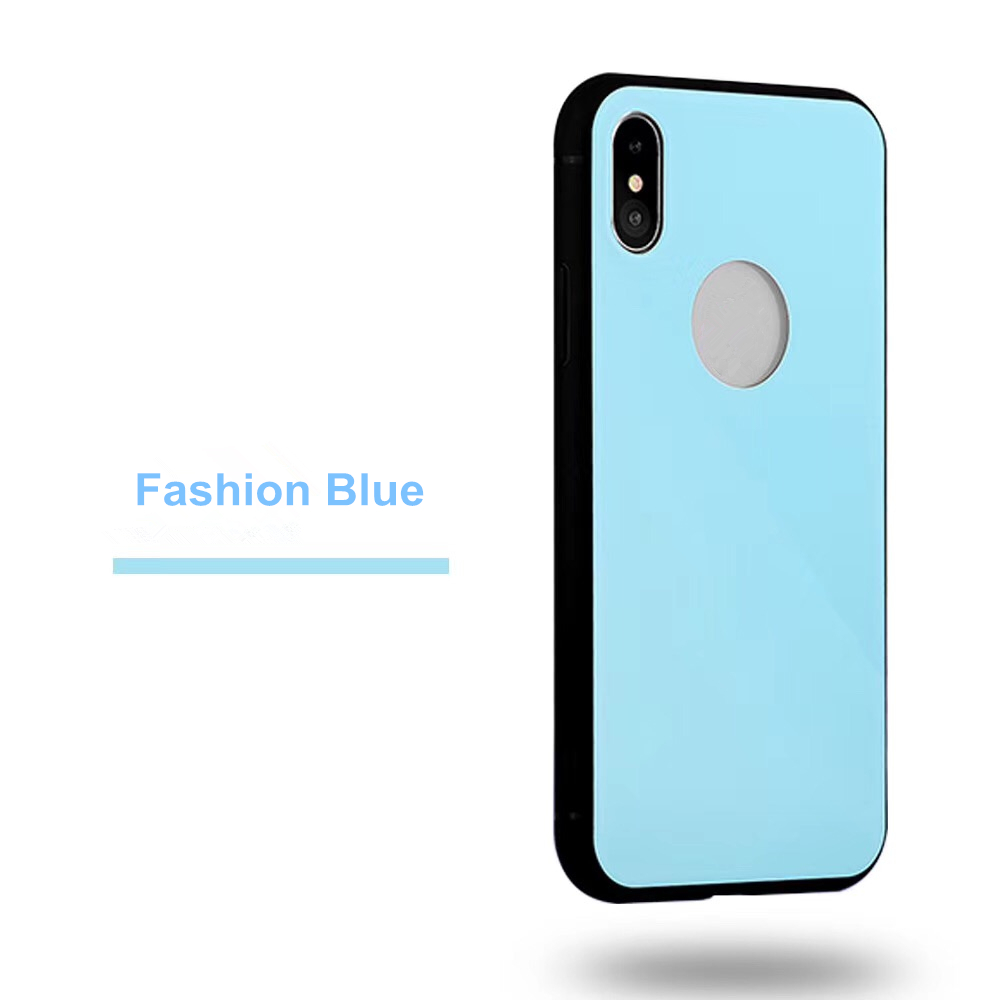 Luxury 360 Degree Hard Case for iPhone X Case , New Design Colorful Tempered Glass Phone Case for iPhone X