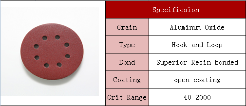 Bestseller 5 inch grit 150 garnet sandpaper with hook and loop