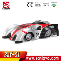2015 New car toys radio controll mini wall climbing car with led light so cool!!! for sales