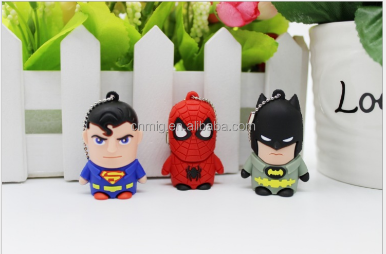 new design wholesale The Avengers cartoon leather usb flash drive 4gb 8gb 16gb