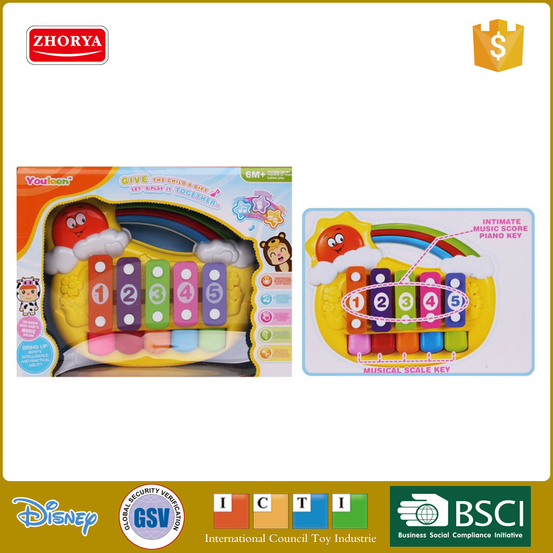 HQ cartoon sun plastic educational toys musical instrument Knock piano for kids baby toys