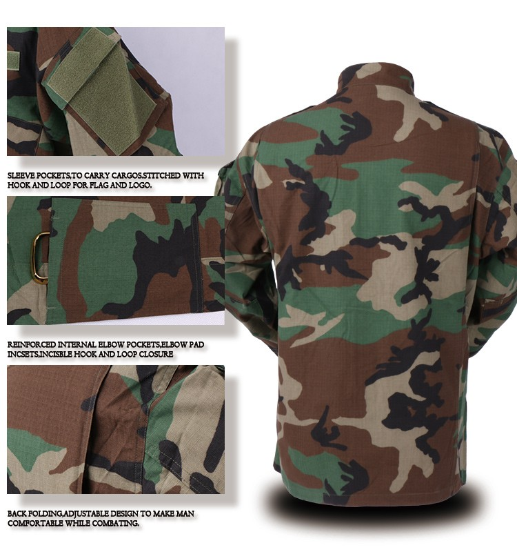 low price woodland camouflage military uniform in india