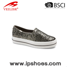 Womens platform glitters leather Low Cut sneakers
