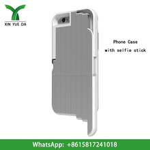 Wholesale high quality aluminum phone case for iphone 6 cover case smartphone selfie stick case