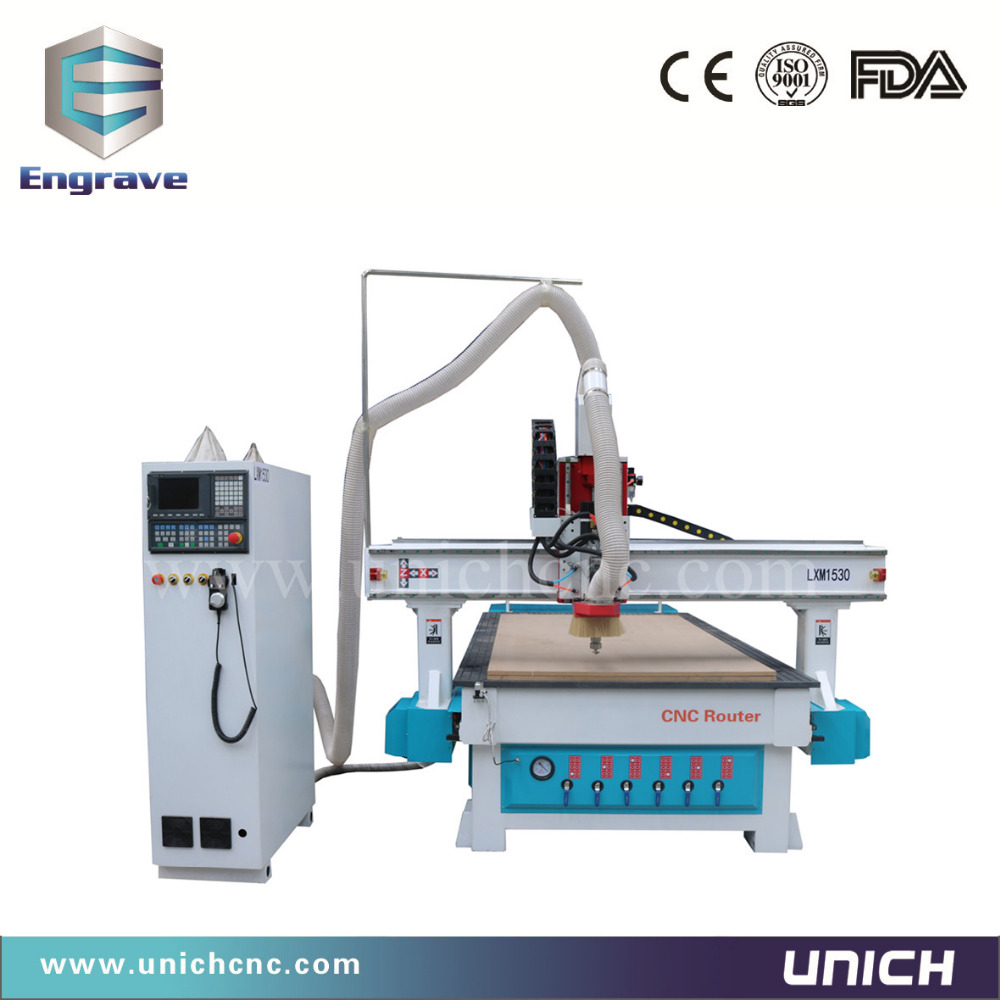 heavy duty frame 1530 auto tool changer cnc router machine