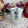 Galvanized Metal small decorative flower pots wholesale