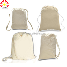Cheap Recycled Fashion Wholesale Custom Natural Printed Organic Promotion Gift Backpack 100% Canvas Cotton Drawstring Bag