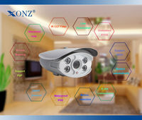 Traffic/School/Bank CCTV camera alarm monitor system HI3518E+0130 Surveillance camera 1.3MP waterproof