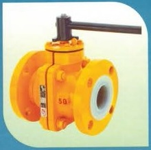 PFA FEP PTFE Lined Ball Valves for highly corrosive fluid applications