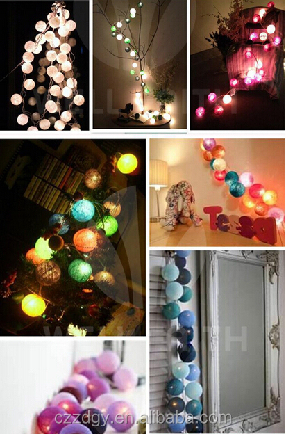 12v cotton string light balls led ball string light thai handmade fairy string lights