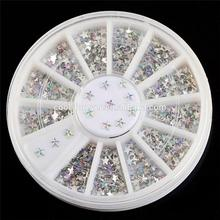 New fashion plastic material glitter star nail art decoration