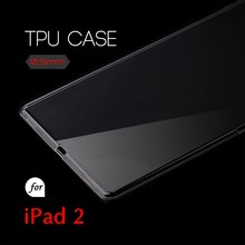 0.5mm Ultra Thin TPU Transparent Clear Protective Case for iPad 2 3 4