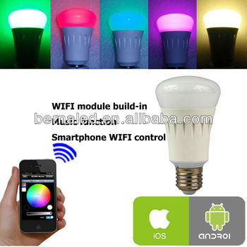 WIFI RGBW hue LED bulb color changing