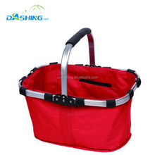 collapsible supermarket cooler picnic shopping basket and bags