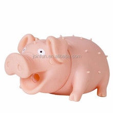 custom make pvc Rubber Screaming Pig Pet Toys for Dogs and Cats
