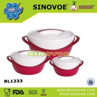 2014 hot pot 3pcs stet stackable food insulated container foam food warmer set