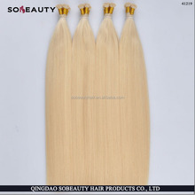 Colored Yaki Straight/Curly Remy 1g Stick Tip Hair Extensions Indian Hair