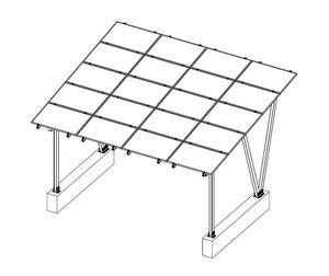 Hot Selling Mounting Structure Carport Solar Panel with Low Price