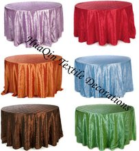 wedding pintuck table cloth and taffeta table linens