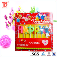 birthday cake firework candles/alphabet letter candle/paraffin wax christmas tree shaped candles