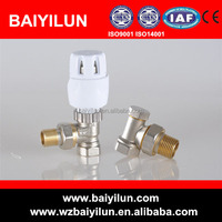 automatic brass angled trv set thermostatic radiator valve