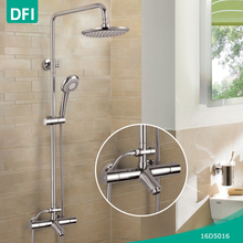 DFI surface mounted thermostatic bath shower faucet set automatic temperature control faucet