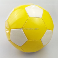 football/soccer ball PU material mini size yellow white color