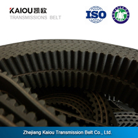 High transmission efficiency Small order industrial rubber coated timing belts