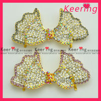 very pretty and blingbling crystal rhinestone butterfly shoe clip buckle accessory WSC-103