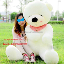 plush white bear large bear skin