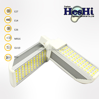 151*36mm 9w SMD LED PL lamp energy saving g23,g24,e27,e14 base