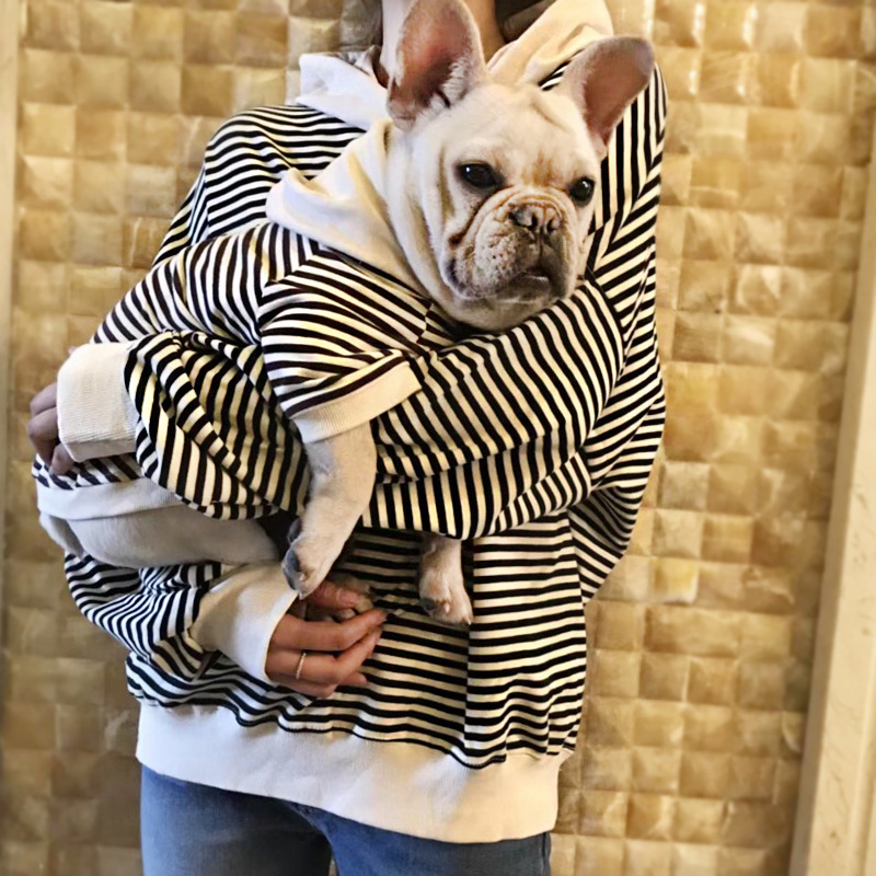 2018 Spring Matching <strong>Dog</strong> and Owner Clothes Stripe Pet <strong>Dog</strong> Clothes