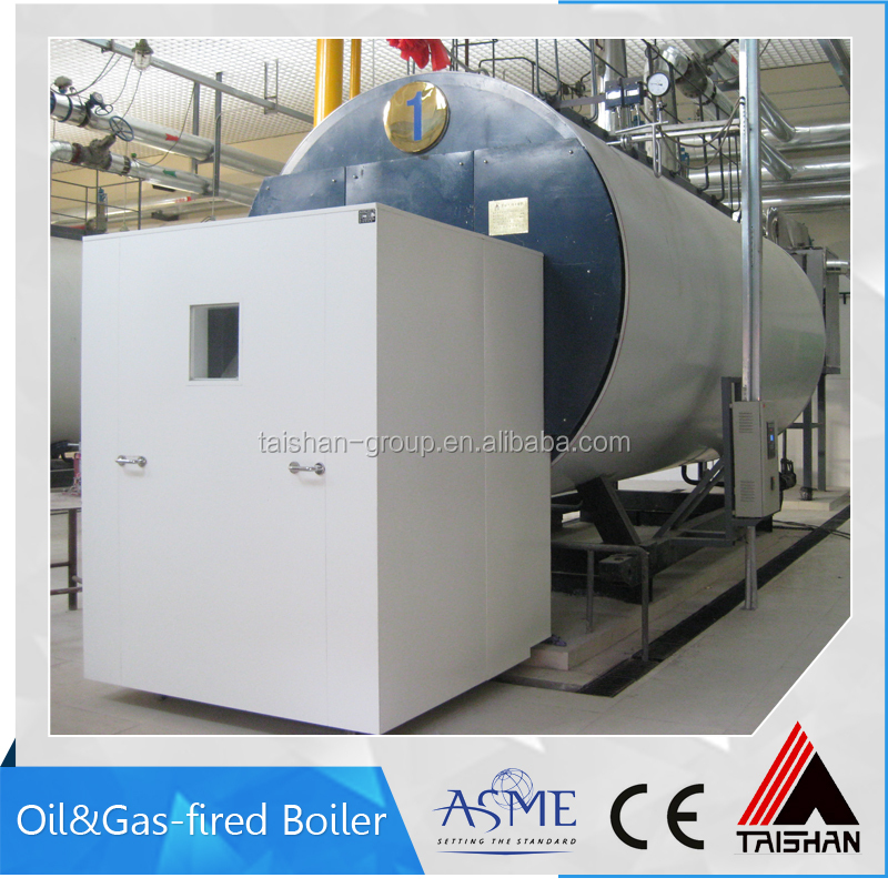 Gas/Oil corrugated furnace 6ton/hr steam boiler for mixing plant