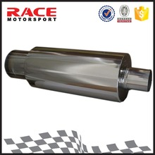 Mparts Universal Racing Auto Polished Straight Weld-On Stainless Steel Exhaust Muffler