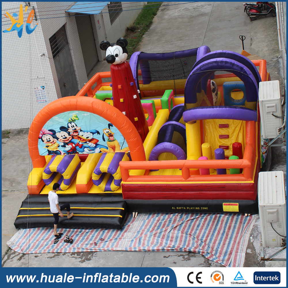 Cartoon style inflatable mickey mouse castle for sale