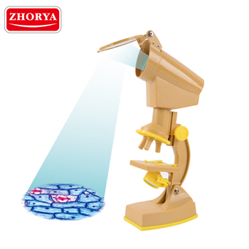 zhorya student science toy educational plastic handheld student microscope for kids education
