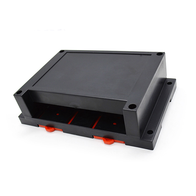 Plastic electronics enclosure din rail case, industrial control, switch boxes for pcb