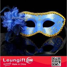 Elegant masquerade princess peacock feather sexy eye mask with flower
