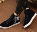 Casual design fashion new trends fancy print good quality cool fancy lace up canvas footwear men shoes