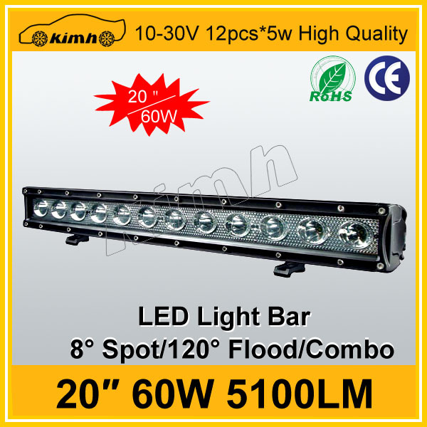 High performance 20inch 60W led display cabinet strip lights bar