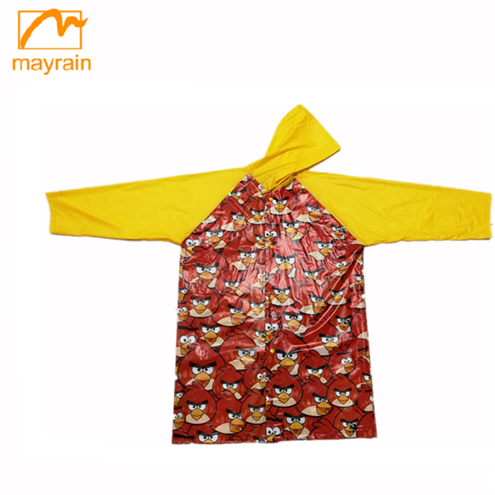 New Style Children Yellow Rain Jacket children clothes dress